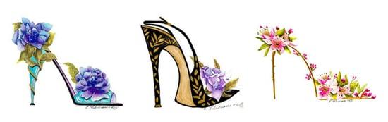 Simply Fab: Elena Feliciano Floral Stiletto Posters