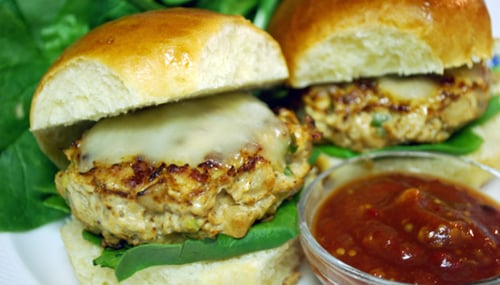 Mexican-Style Chicken Burgers