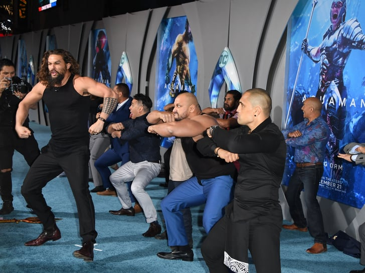 Jason Momoa Doing The Haka With His Kids At The Aquaman