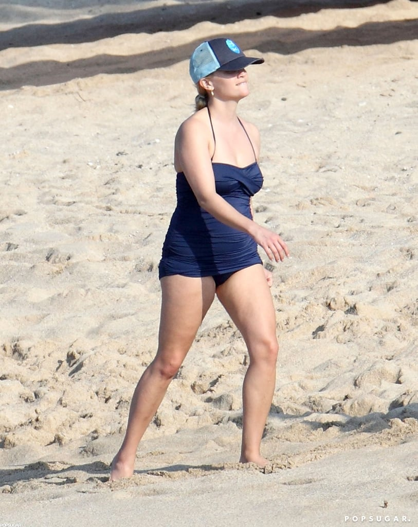 Reese Witherspoon wore a swimsuit just months after giving birth.