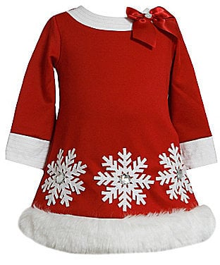 Bonnie Baby Christmas Snowflake Dress