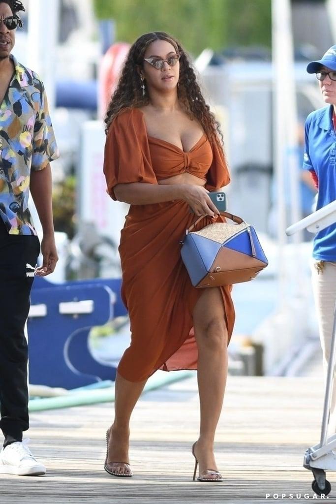 Beyoncé Wearing Fe Noel, Loewe, and Alexander Wang in Miami