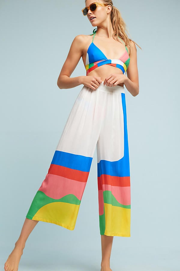 Mara Hoffman's Pooling Piper Beach Pants ($195) will work just as well over a swimsuit as they will with a crop top.