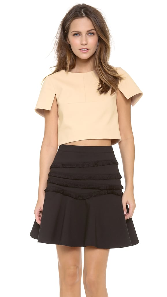 Tibi Short-Sleeved Crop Top