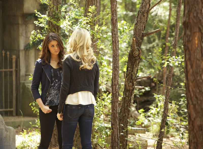 It wouldn't be a The Vampire Diaries finale without some serious talks.