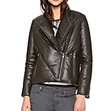 Nothing looks cooler than a leather jacket, but nothing is warmer than my puffy coat. Helmut Lang to the rescue with a hybrid that is both cool and warm. And with all the detailing, I can wear this leather puffer ($1,425) with everything from a party dress to jeans.  — MLG