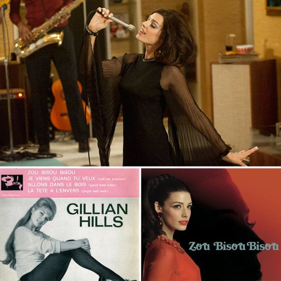 """Zou Bisou Bisou First sung by Sophia Loren in English in 1960, remade in French by Gillian Hills in 1961, and brought back to life on the season 5 premiere of Mad Men by Mrs. Don Draper, Zou Bisou Bisou is the perfect song for a 1960s sex kitten. Don's new wife, Megan, channels a yé-yé girl, a term derived from """"yeah! yeah!"""" The yé-yé movement was comprised of female pop singers from France, Québec, and Spain, whose likes included Françoise Hardy, Gillian Hills, and Sheila. The themes of the songs, often written by men like Serge Gainsbourg and Michel Rivgauche, were innocent, while the girls channeled a sexy naiveté. Megan, who is originally French Canadian, embodied this contradiction perfectly last night in the episode appropriately titled """"A Little Kiss"""" (bisou means kiss in French). Don Draper's much younger wife hopped around playfully, singing the French version of the song and lifting her skirt to show a little leg. The French lyrics she sang translated to: """"But who needs the bushes of August when you hold me softly around the neck?"""" But later in the episode we saw Don grab her in a not-so soft way, as a cleaning session led to rough sex between the Drapers."""