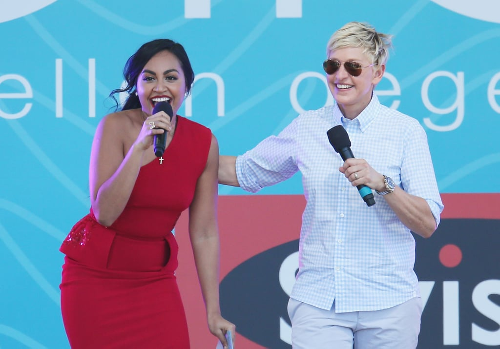 Ellen DeGeneres brought Jessica Mauboy on stage.
