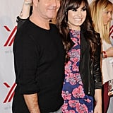 Demi Lovato joked around with Simon Cowell.