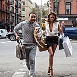 John Legend and Chrissy Teigen strutted their stuff for an adorable NYC photo shoot on Monday.