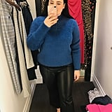 Fuzzy Sweater and Vegan Leather Pants