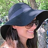 On a hot day, this black felt Roxy hat surely did the trick.