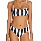 MIKOH Kumu Striped Bandeau Bikini Top & Cruz Bay Bikini Bottom