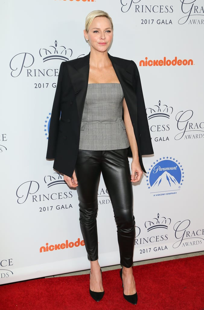 Back in October 2017, Charlene gave leather trousers a go when she attended the Princess Grace Awards Gala in LA.