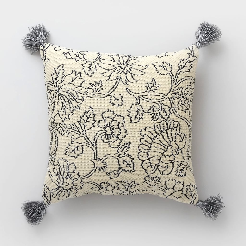 Square Vintage Floral Outdoor Pillow