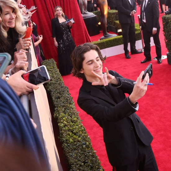 Timothee Chalamet Rapping Cardi B at the SAG Awards