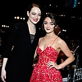 Emma Stone and Maisie Williams linked up for a photo in 2015.