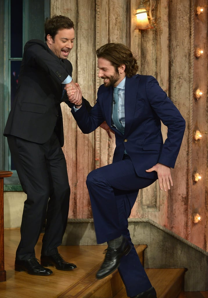 Bradley Cooper stopped by Late Night With Jimmy Fallon in NYC.