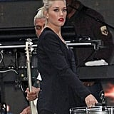 Gwen Stefani rehearsed in NYC.