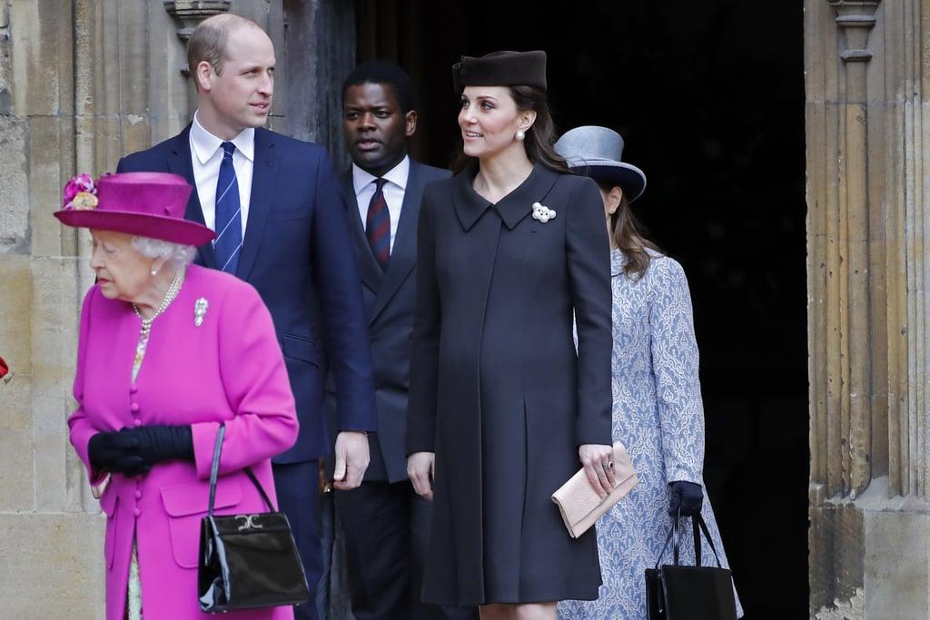 Kate Middleton Pearl Earrings on Easter 2018