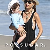 Rachel Zoe spent the day with her son Skyler on the beach in Malibu.