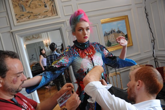 Pictures of Behind the Scenes at Australia's Next Top Model Paris Haute Couture Photo Shoot!