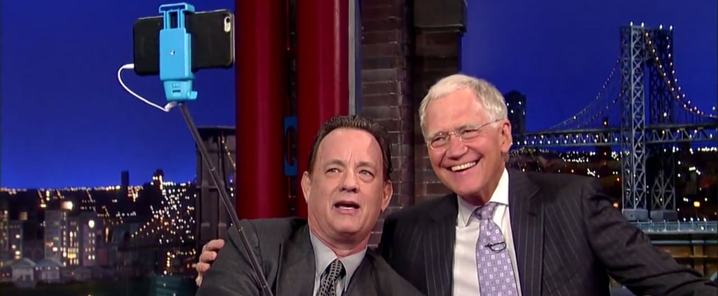 Tom Hanks and David Letterman Take a Selfie Together