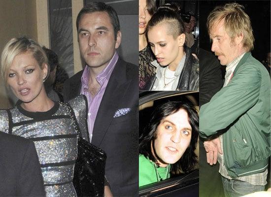 23/04/2009 Kate Moss, David Walliams, Noel Fielding, Rhys Ifans
