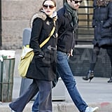 Natalie Portman Hits the Street With Benjamin and a Rumored Boy Baby Bump