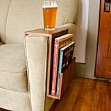 Etsy Custom Couch Arm Table with Magazine/Book Pocket