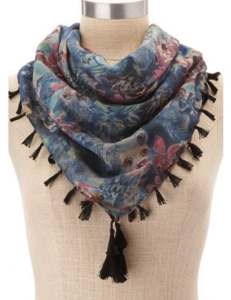 The extra tassel detail lends a flirty texture to the scarf. Charlotte Russe Double-Sided Tassel Scarf ($10)
