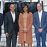 In late April 2016, Harry, Will, and Kate happily greeted and posed for photos with Michelle and Barack Obama as they touched down in the UK.