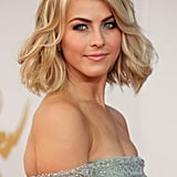 Julianne Hough walked the red carpet at the Emmy Awards 2013.