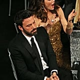 Jennifer Garner couldn't contain her excitement when Ben Affleck won for Argo at the SAGs.