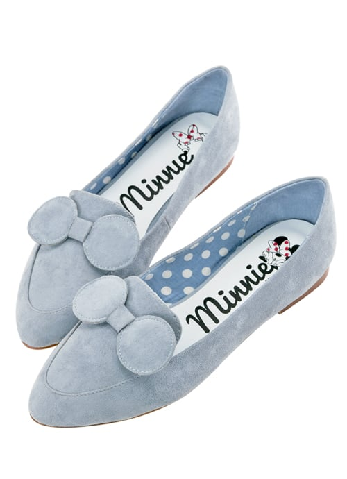 Minnie Mouse Bow Tie Loafers in Light Blue ($48)