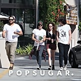 Kristen Stewart grabbed pizza with friends in Woodland Hills.