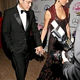 George Clooney and Stacy Keibler at Carousel of Hope Ball
