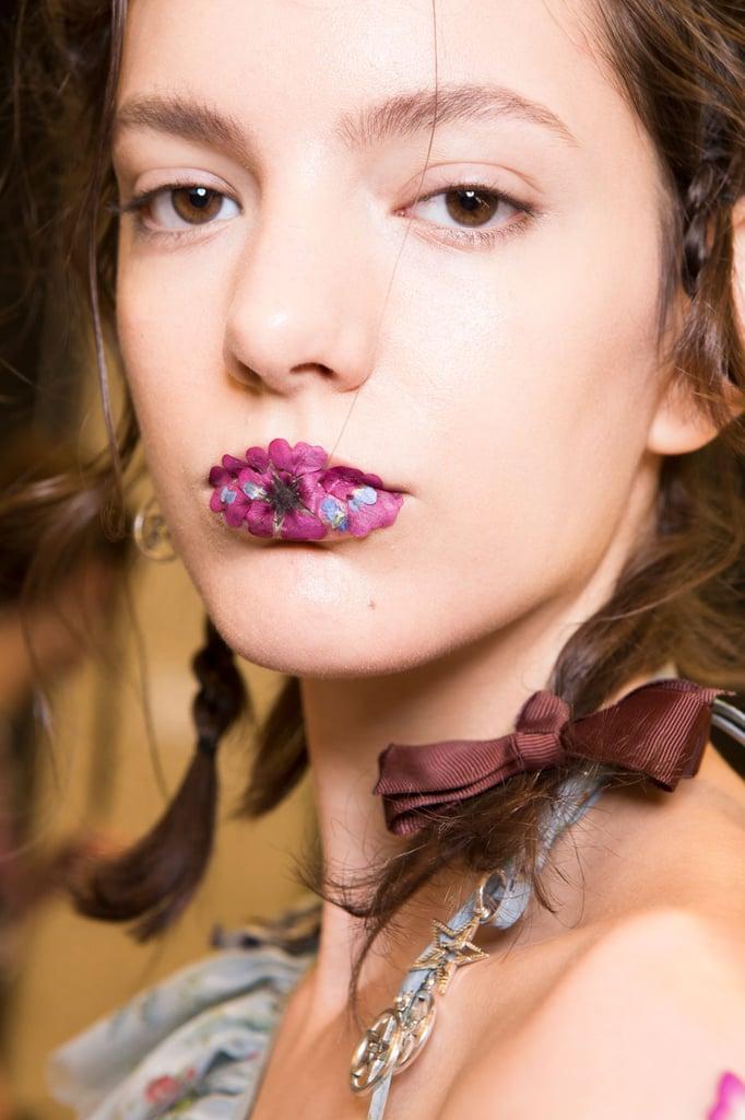 hair and makeup at preen spring 2017 popsugar beauty
