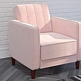 Pink Velvet Accent Chair
