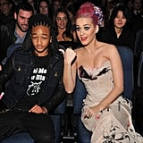 Katy Perry seemed to enjoy sitting next to Jaden Smith during the show.