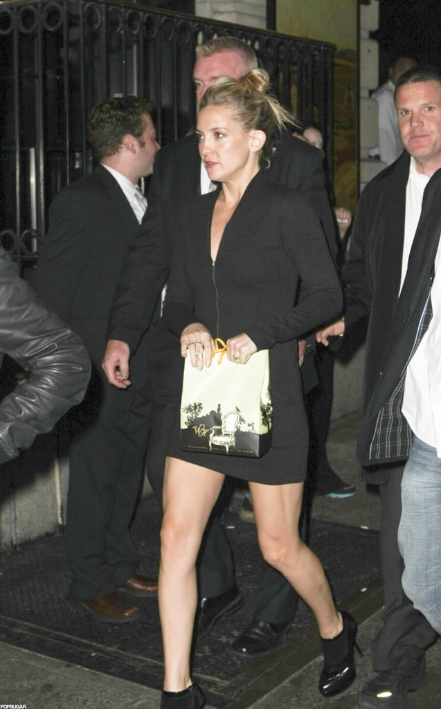 Kate Hudson left an SNL party in NYC.
