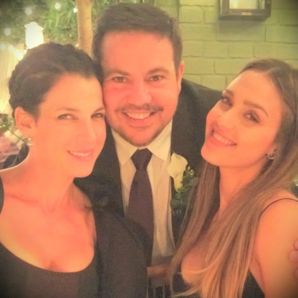 Jessica Alba and Jessica Seinfeld posed with designer Narciso Rodriguez at his wedding reception. Source: Instagram user jessicaalba