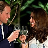 The Duke and Duchess of Cambridge toasted with water on day two of their tour in Singapore.