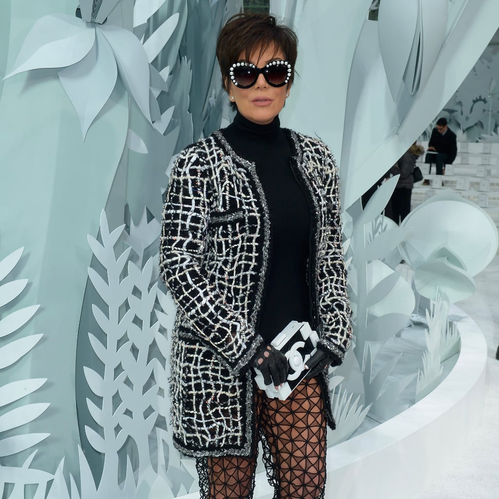 Kris Jenner Forgot Her Pants at the Chanel Show