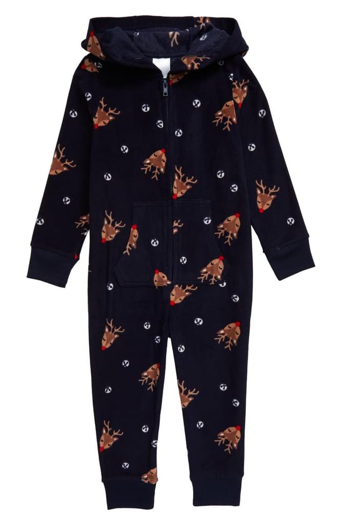 Nordstrom Family Pajamas Hooded One-Piece Pajamas