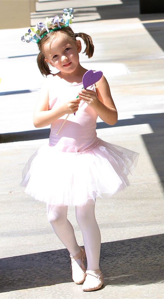 Seraphina Affleck wore a flower crown and tutu to ballet class in LA.