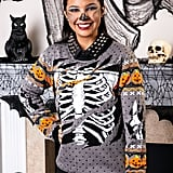 Ripped Open Skeleton Halloween Sweater