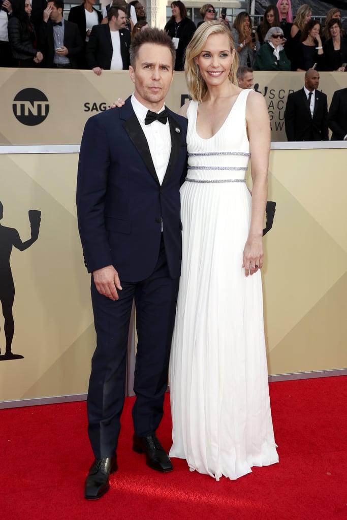 Sam Rockwell and Leslie Bibb at the 2018 SAG Awards