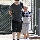 Ryan Phillippe put on a baseball cap and watched his son Deacon's football game in LA.