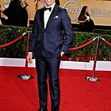 James Marsden suited up in blue for his big night.